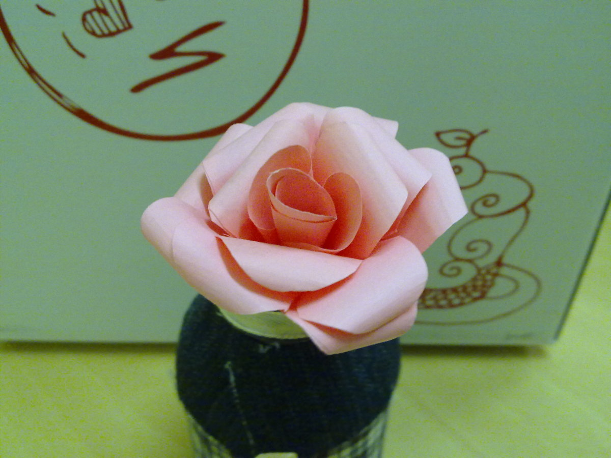a beautiful Handmade Paper Rose Flower