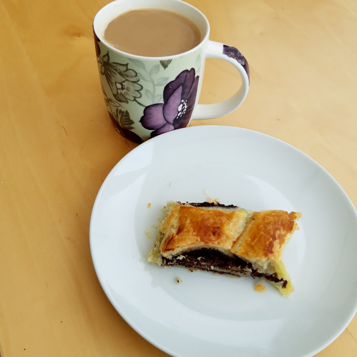 Enjoy your poppy seed roll with a cup of tea