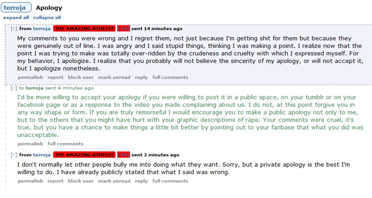 TK Kirk's not so amazing rape comment backlash.