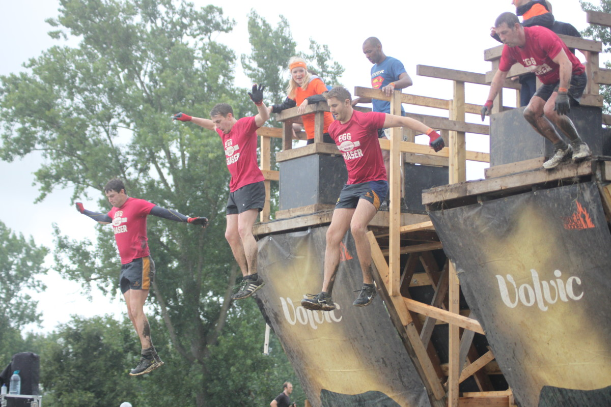 Walking the Plank- All part of Tough Mudder