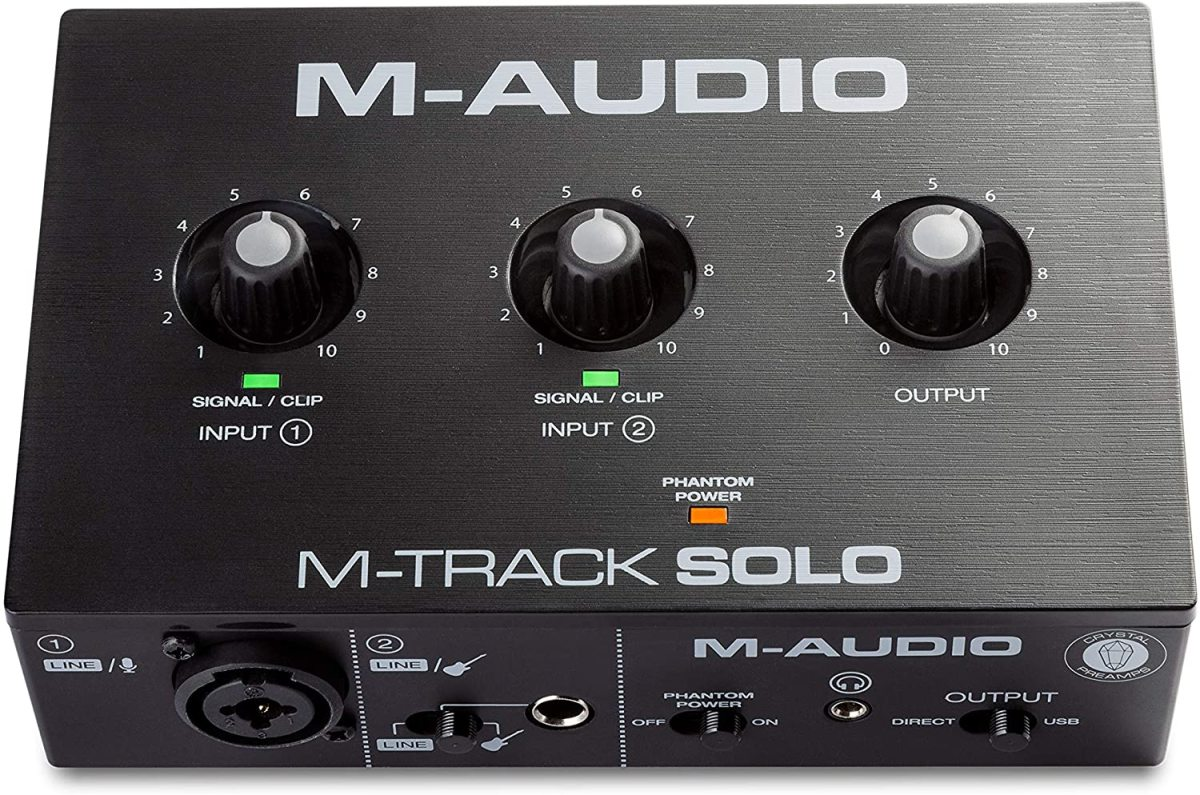 The M-Audio M-Track Solo has one XLR microphone input