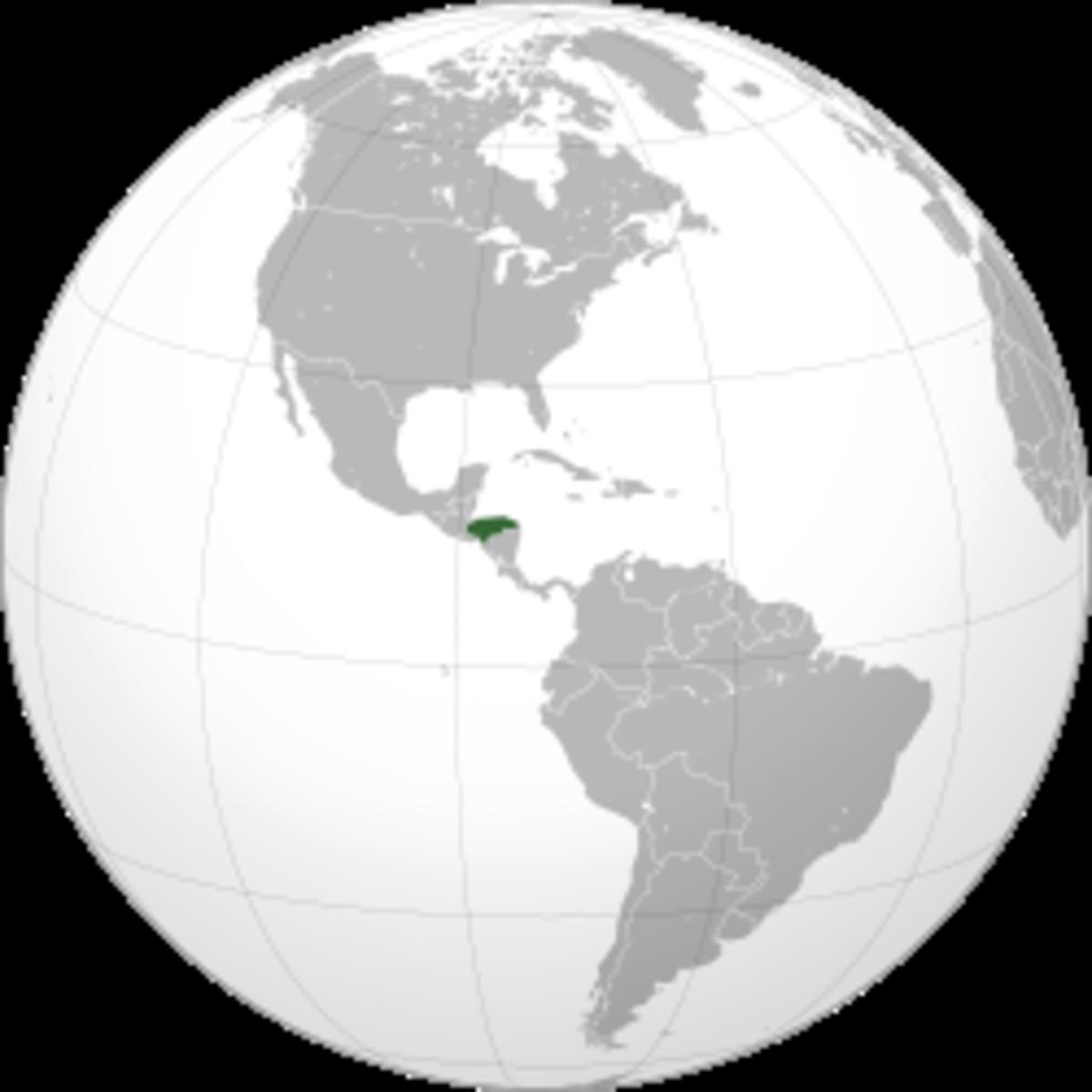 Map showing Honduras