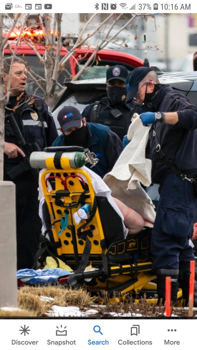 Shooter on Stretcher