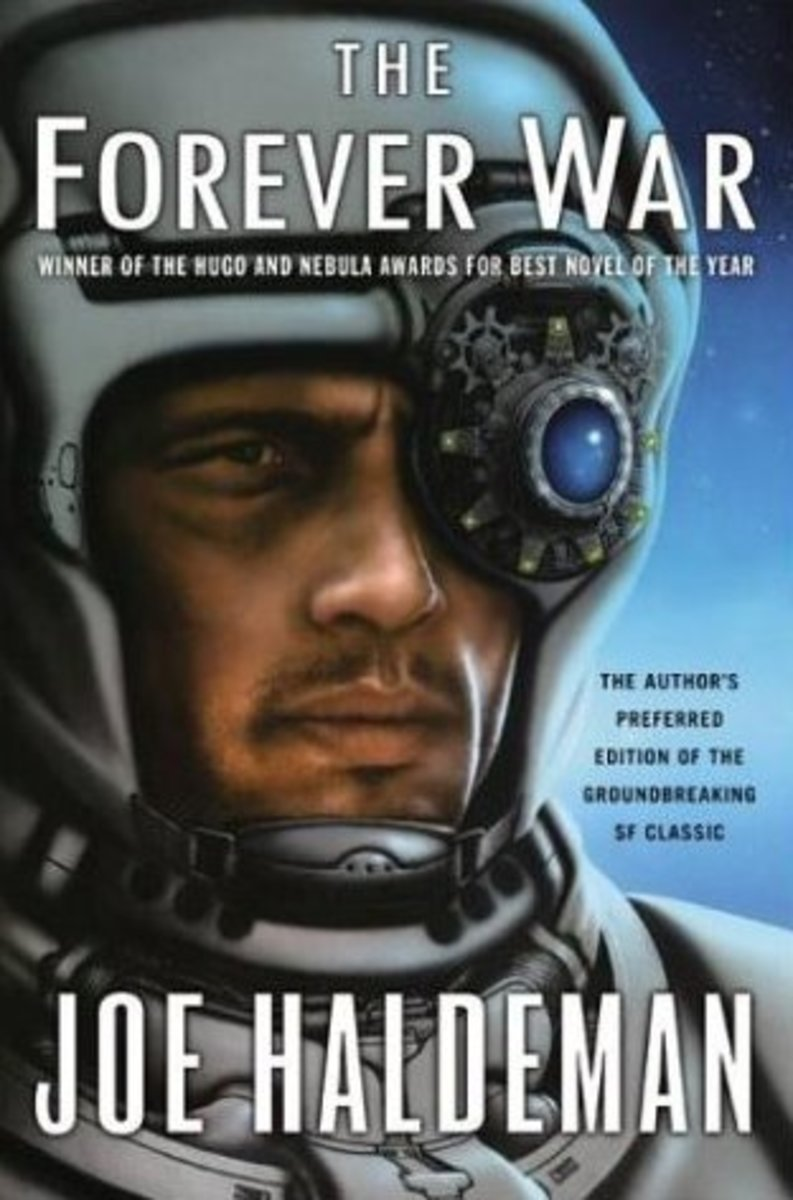 Joe Haldeman's preferred cover art to his futuristic War classic sci-fi novel.