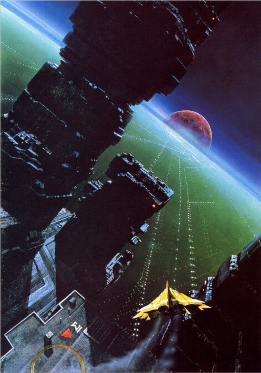 The classic cover of the awe inspiring book Ender's Game.