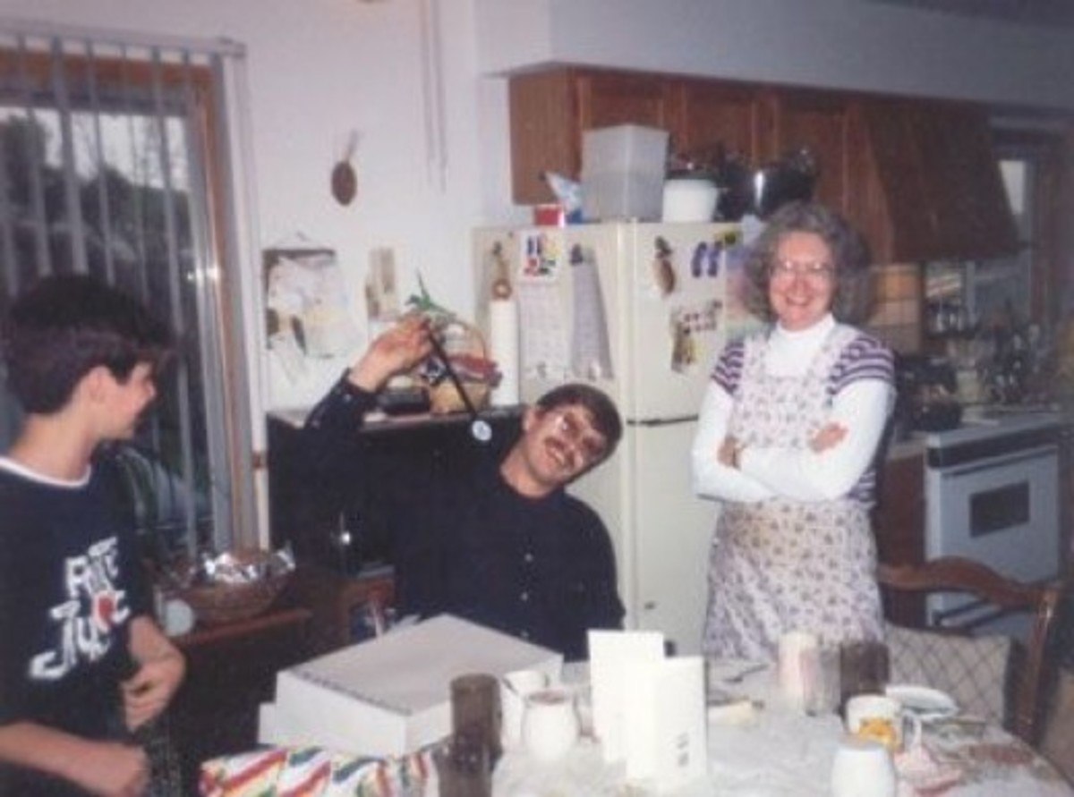 Our Christmas celebration in 1994 was shared with my nephew Bobby, who was living with us. Rich bought him a terrific present -- a tool chest full of real tools, each one hand-picked. That's probably what he might have wanted himself at that age. Ric