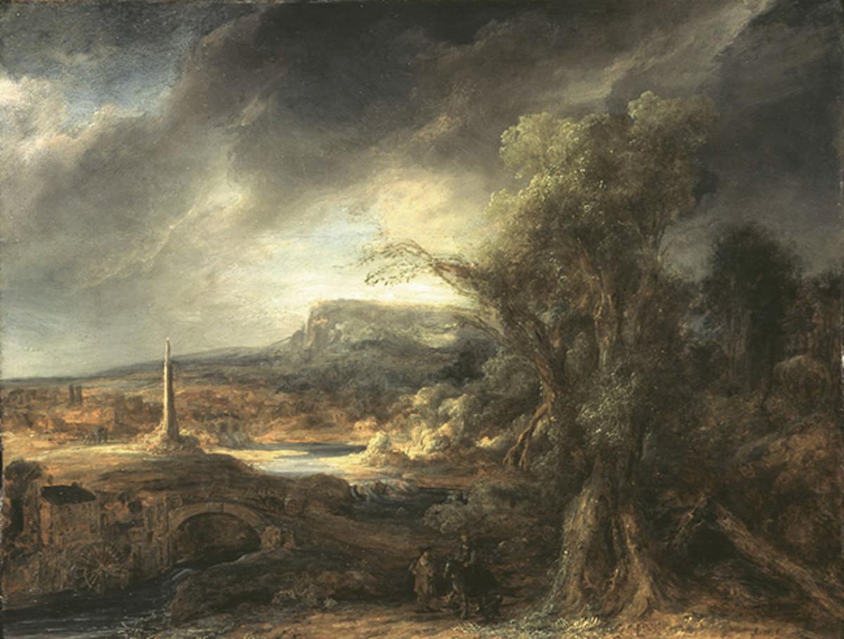 Landscape with an Obelisk by Flinck