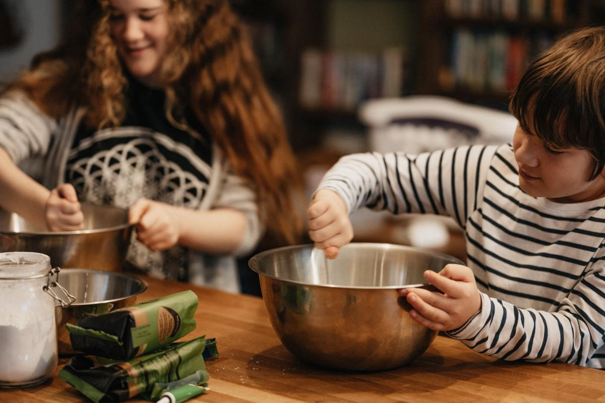 Cooking with mom is a special memory.