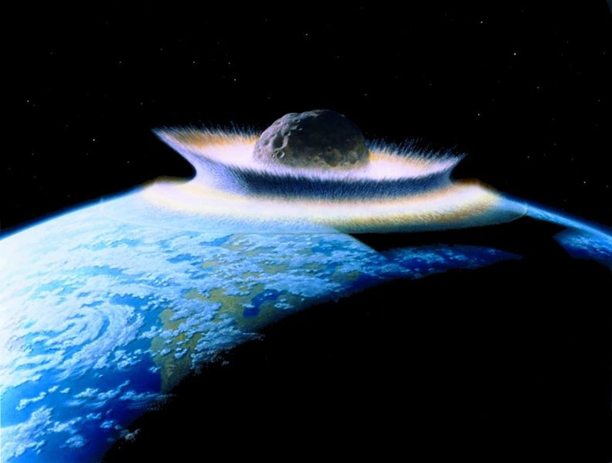 An Asteroid crashing into Earth may have seeded the other planets in our solar system.