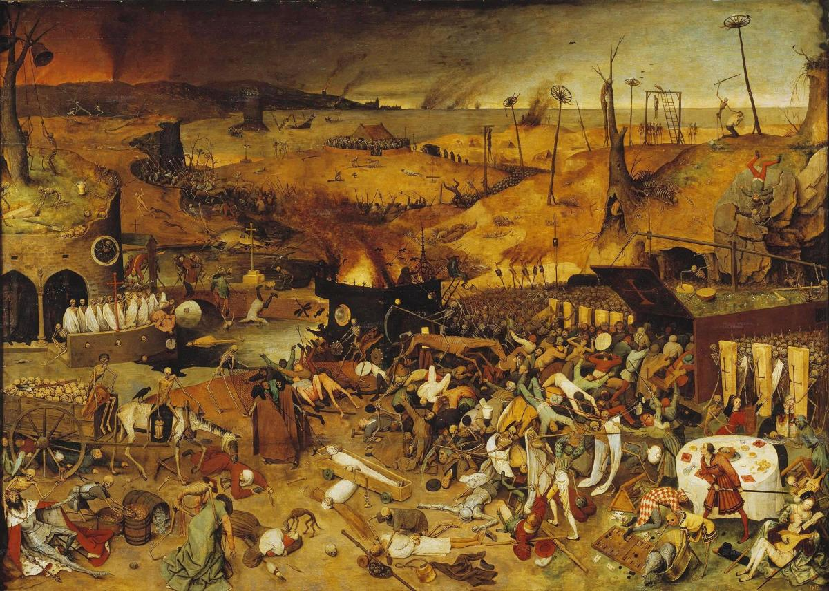 """THE TRIUMPH OF DEATH"" BY PETER BRUGHEL IN 1562 DEPICTS THE BLACK DEATH"