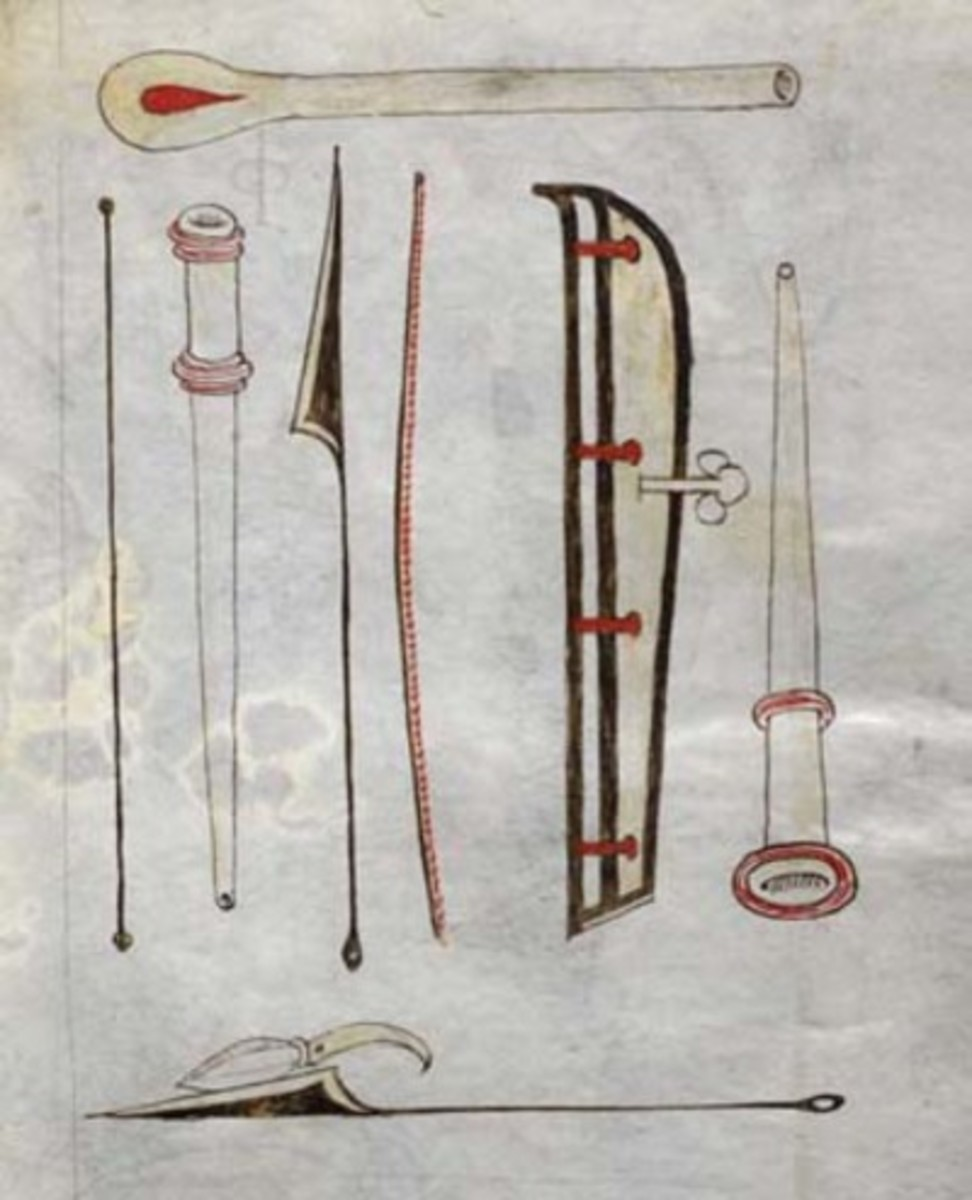 ILLUSTRATIONS BY JOHN ARDERNE OF HIS SURGICAL INSTRUMENTS IN 1387