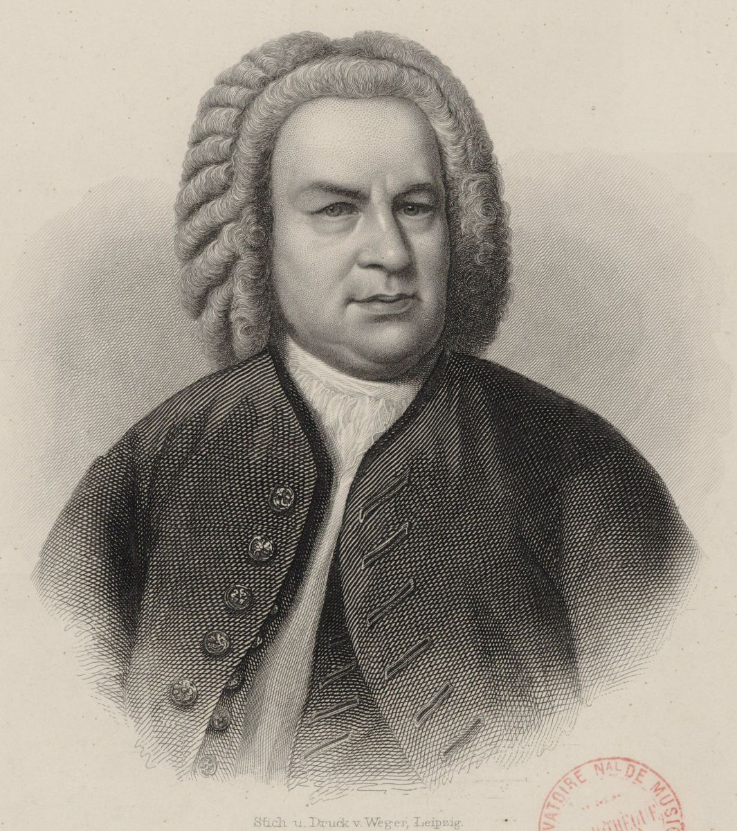 Engraving of J S Bach