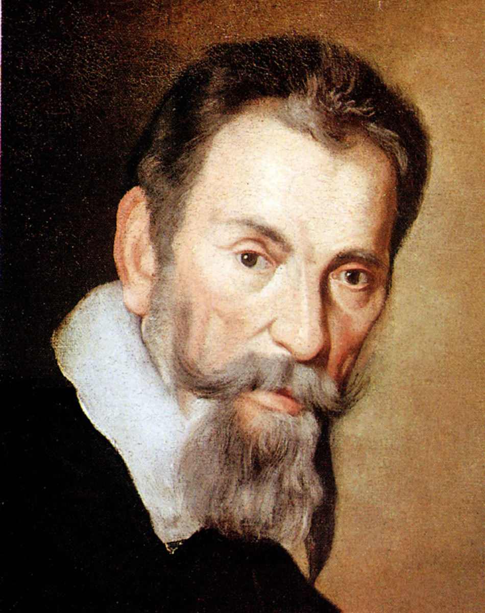 Painting of Monteverdi, probably from around 1640, three years before his death.
