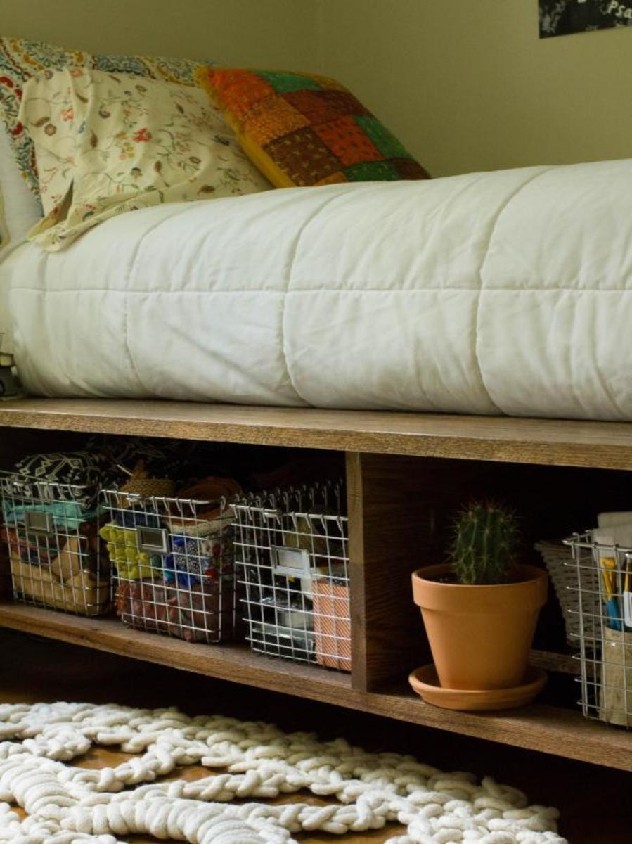 Do-it-yourself under your bed storage old drawers to put a little under bed storage space to use