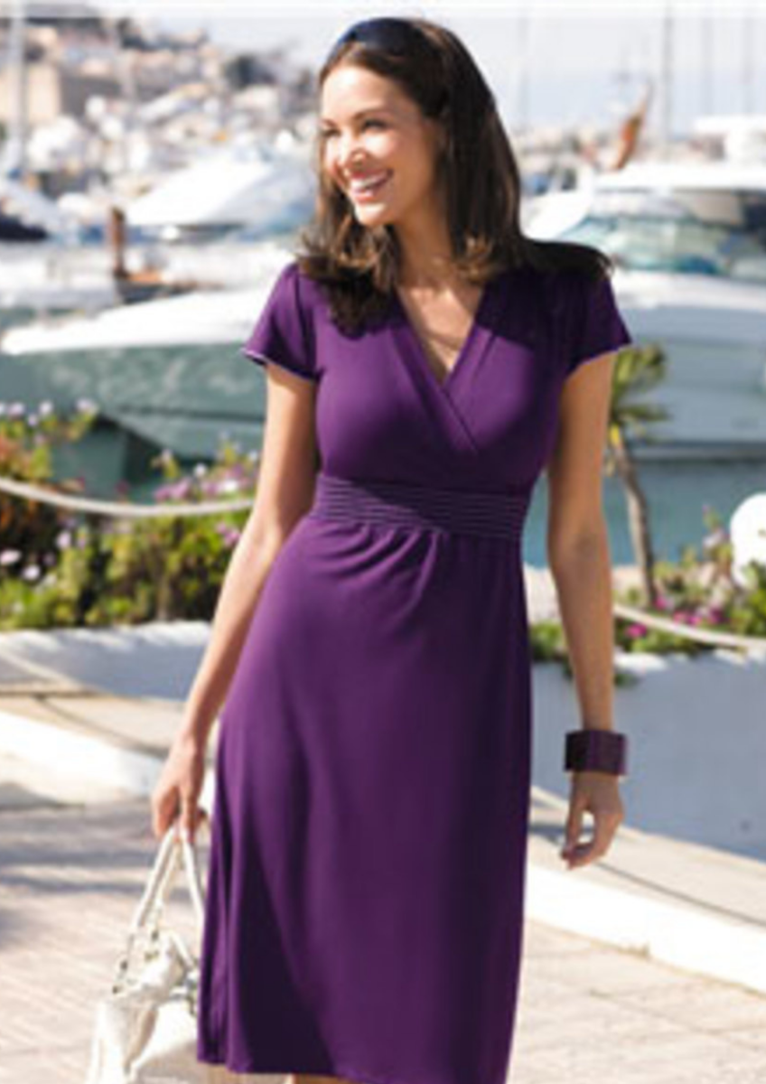 Contrast Stitch Jersey Dress