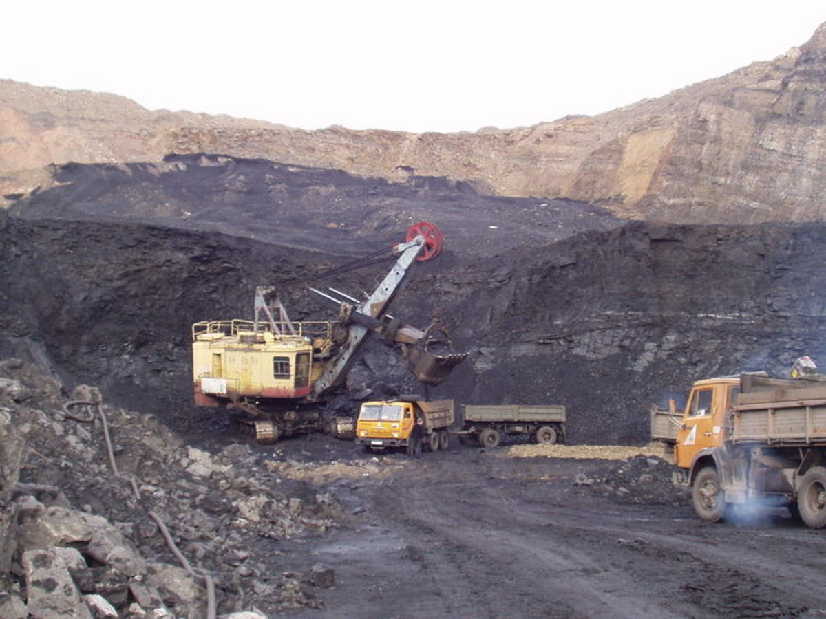 Open pit mining in Russia