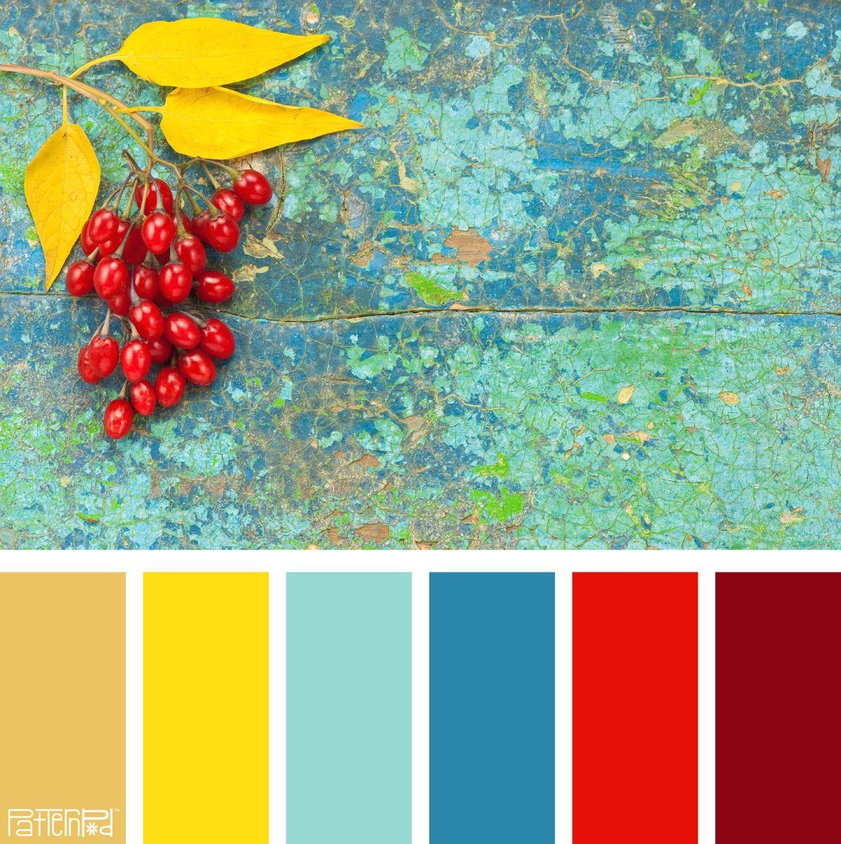 A Triadic Color Scheme Example