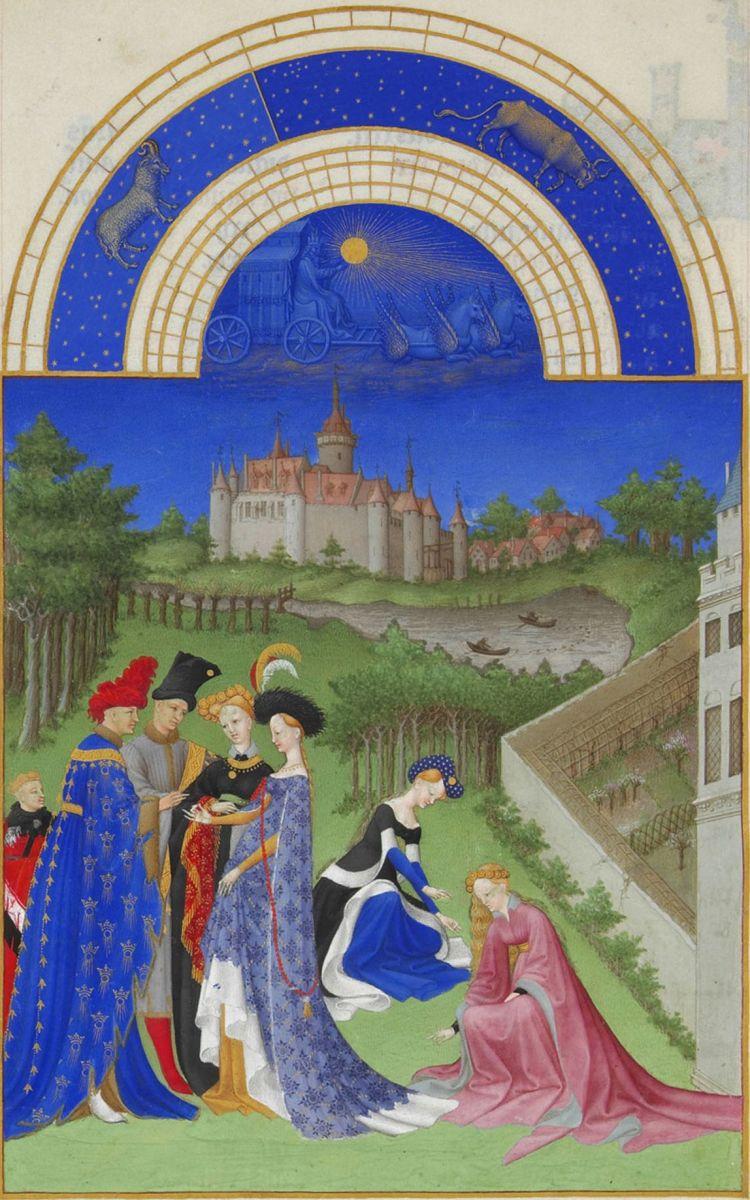 Depicting a Betrothal - Les Très Riches Heures du Duc de Berry