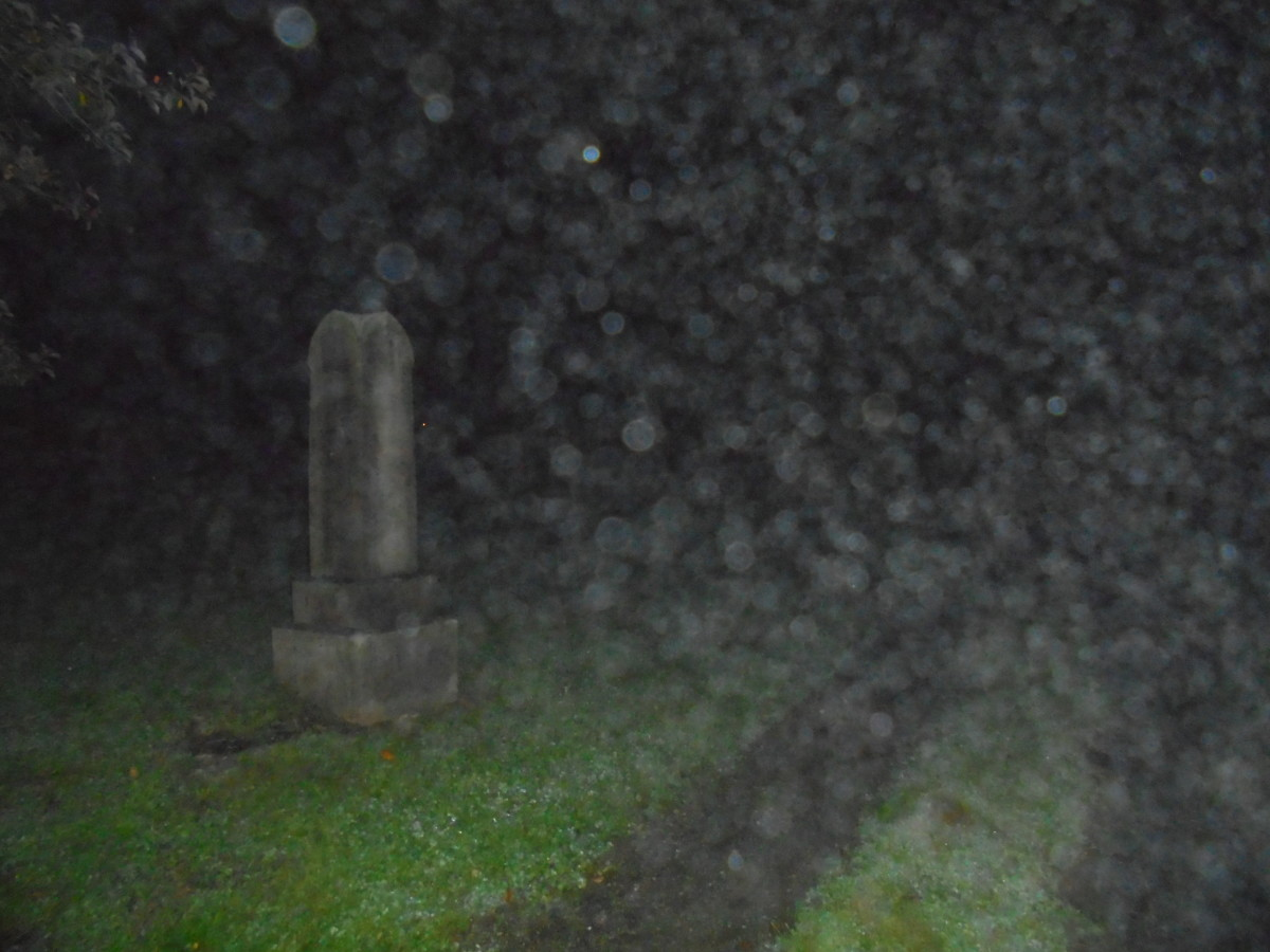 Local cemetery yields many orbs.