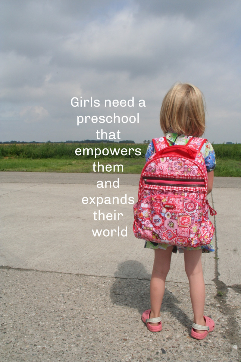 Parents should avoid preschools where girls are observers, not doers.