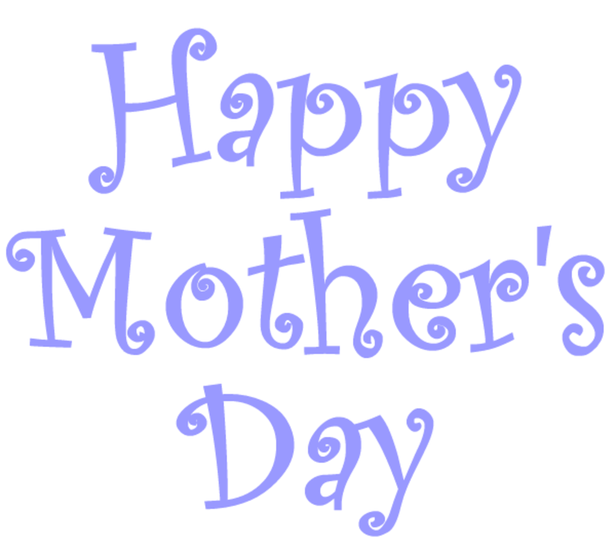 free Happy Mother's Day clip art -- pruple