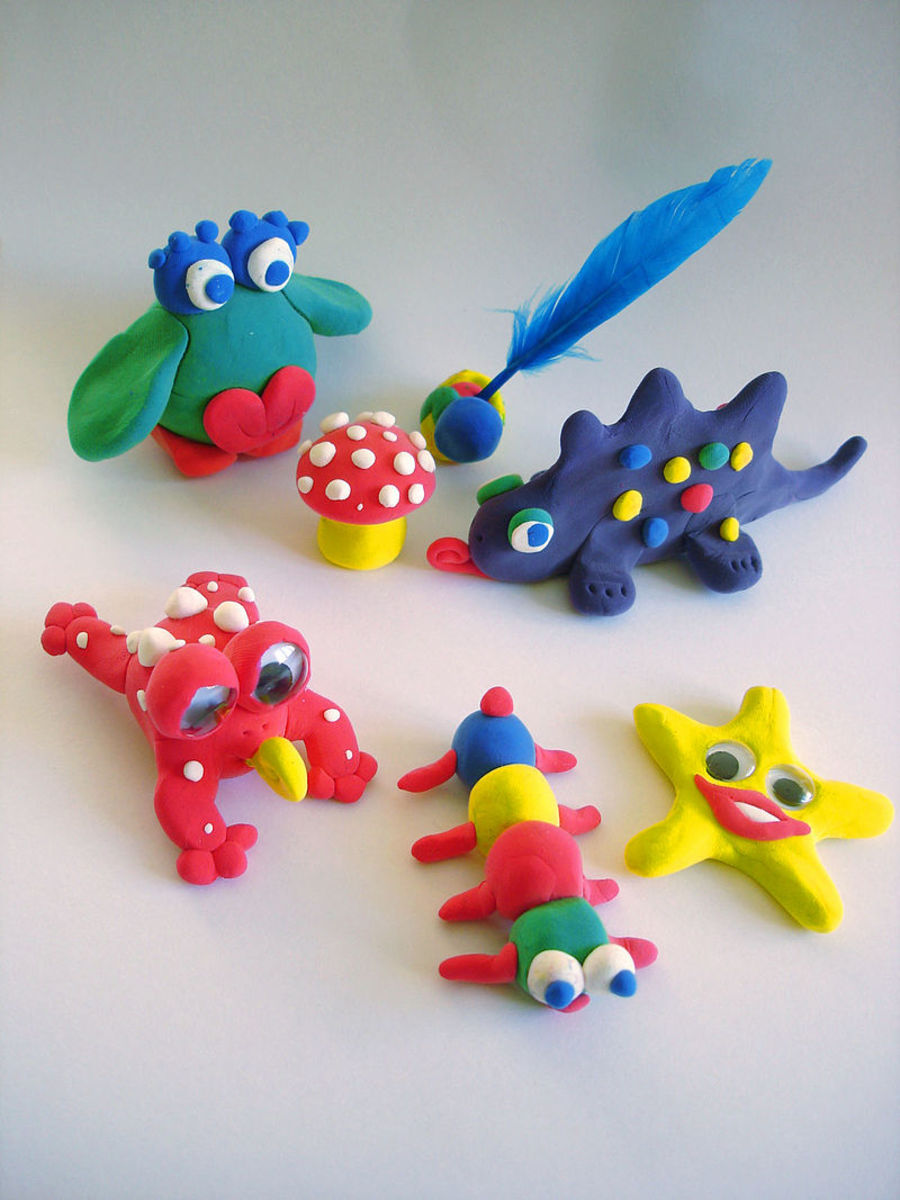Creatures made of Play-Doh.