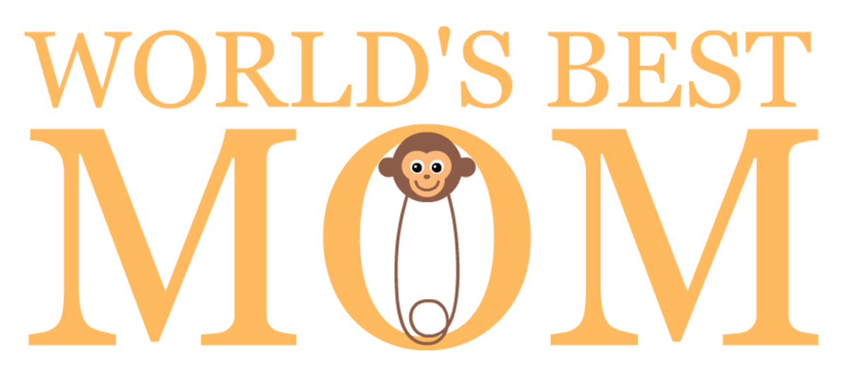 free World's Best Mom -- monkey diaper pin