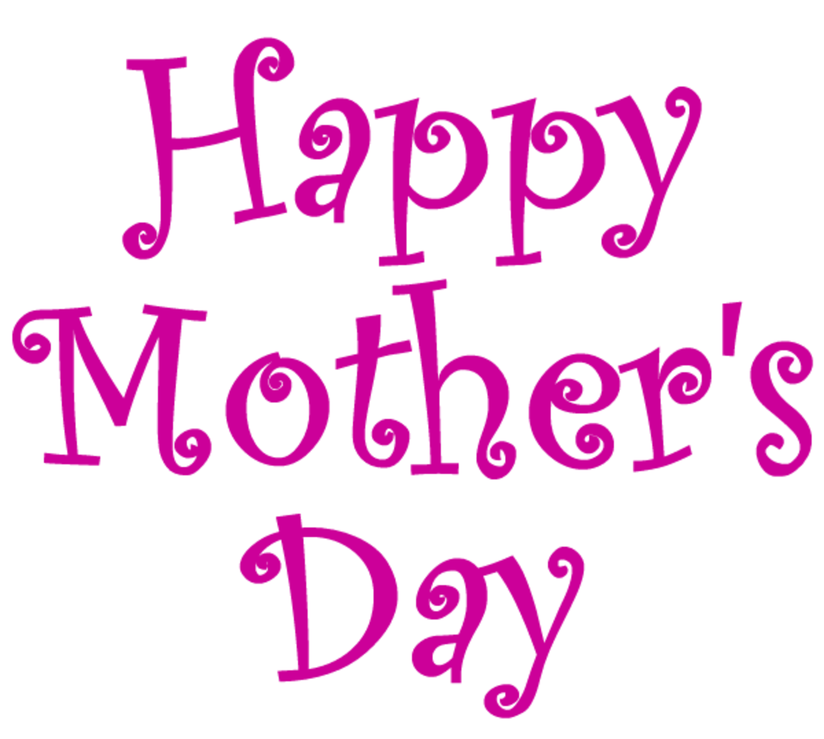 Happy Mother's Day clip art -- magenta