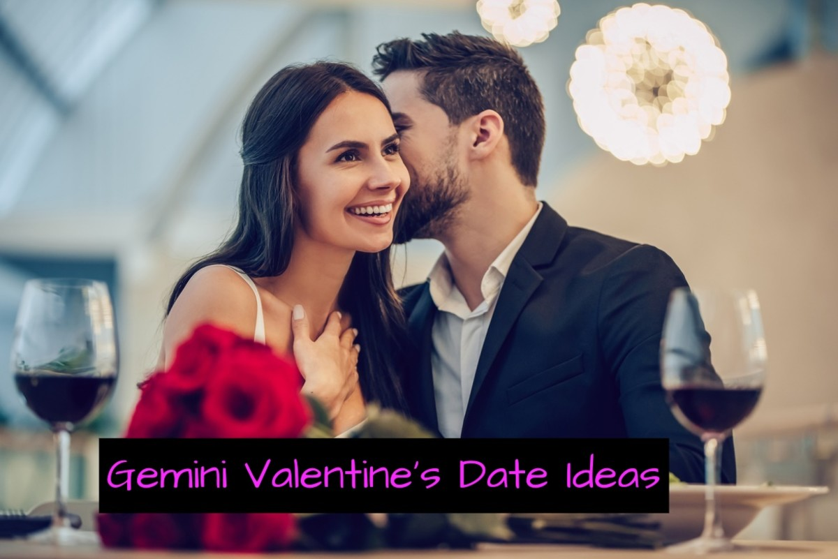 Gemini needs fun and spontaneity. (1) Go to  an art museum. (2) Get ice cream at a trendy place. (3) Hot air balloon ride. (4) Go dancing. (5) Go to a B&B.