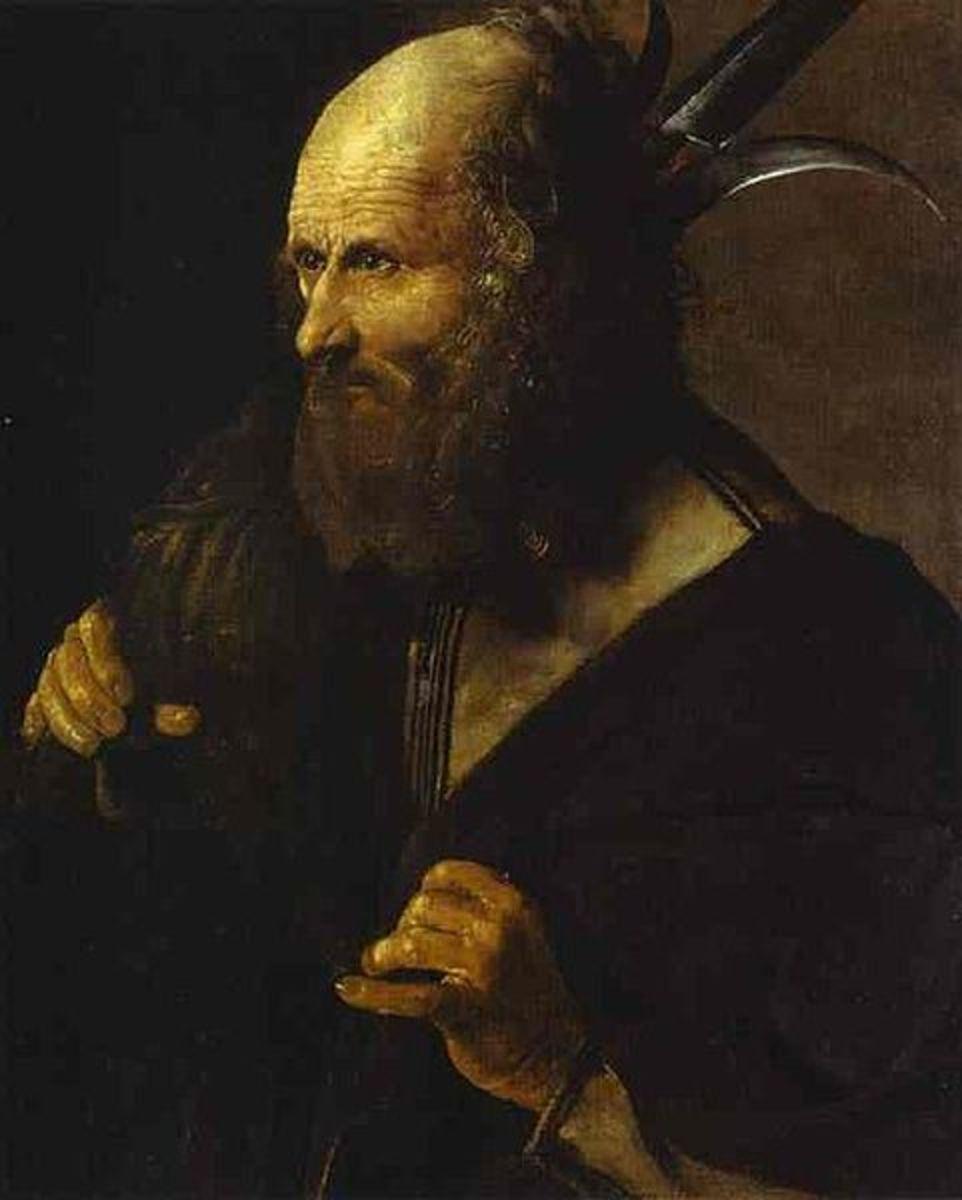 """""""Saint Jude Thaddeus"""" by Georges de La Tour (1615-1620) - Museum Toulouse - Lautrec - Albi, France"""