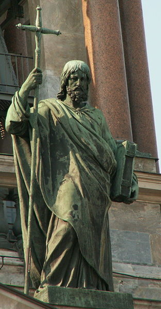 Statue of the Apostle Philip - Saint Isaac's Cathedral - Saint Petersburg, Russia
