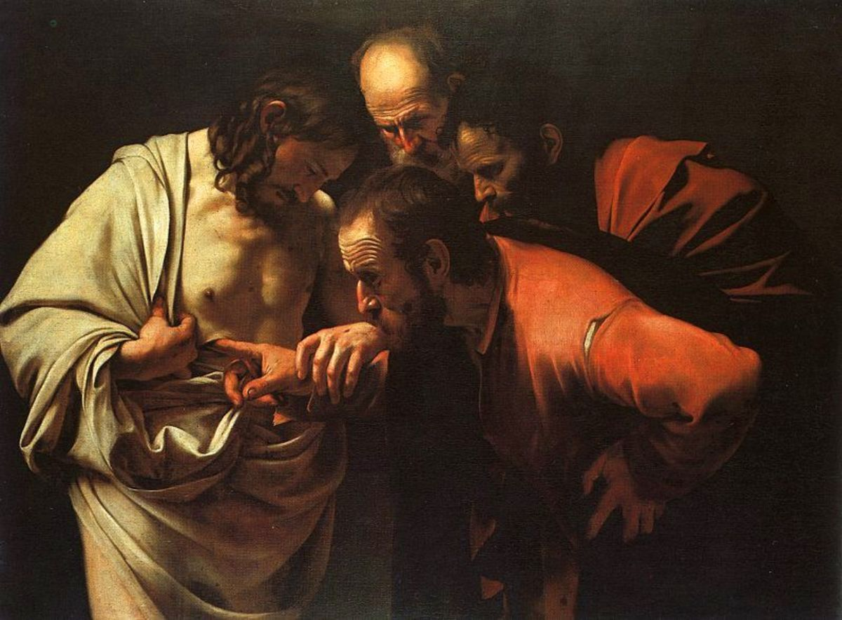 """The Incredulity of Saint Thomas"" - by Michelangelo-Merisi da Caravaggio (1571-1610)"