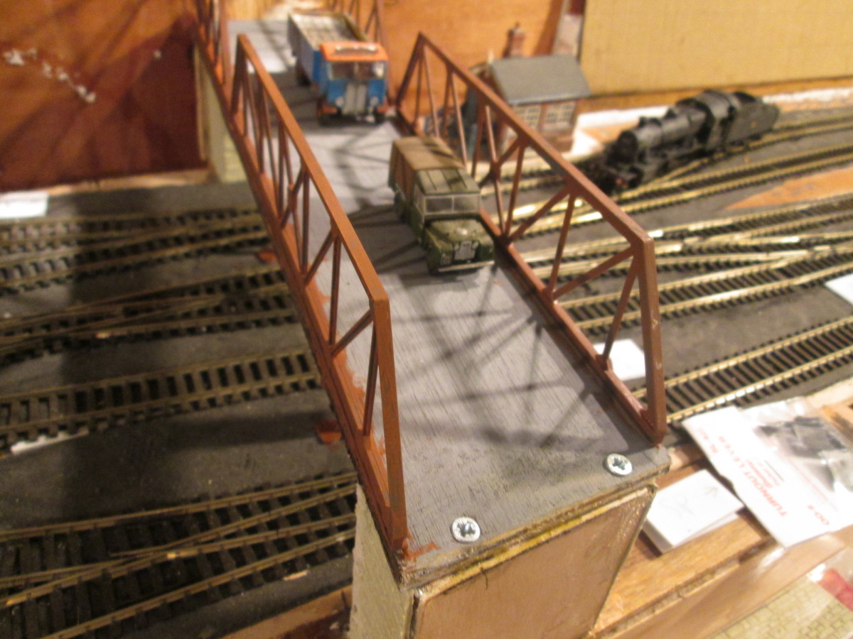 The bridge so far (24/4/21). Road to be 'surfaced' with fine wet&dry mid-grey sandpaper