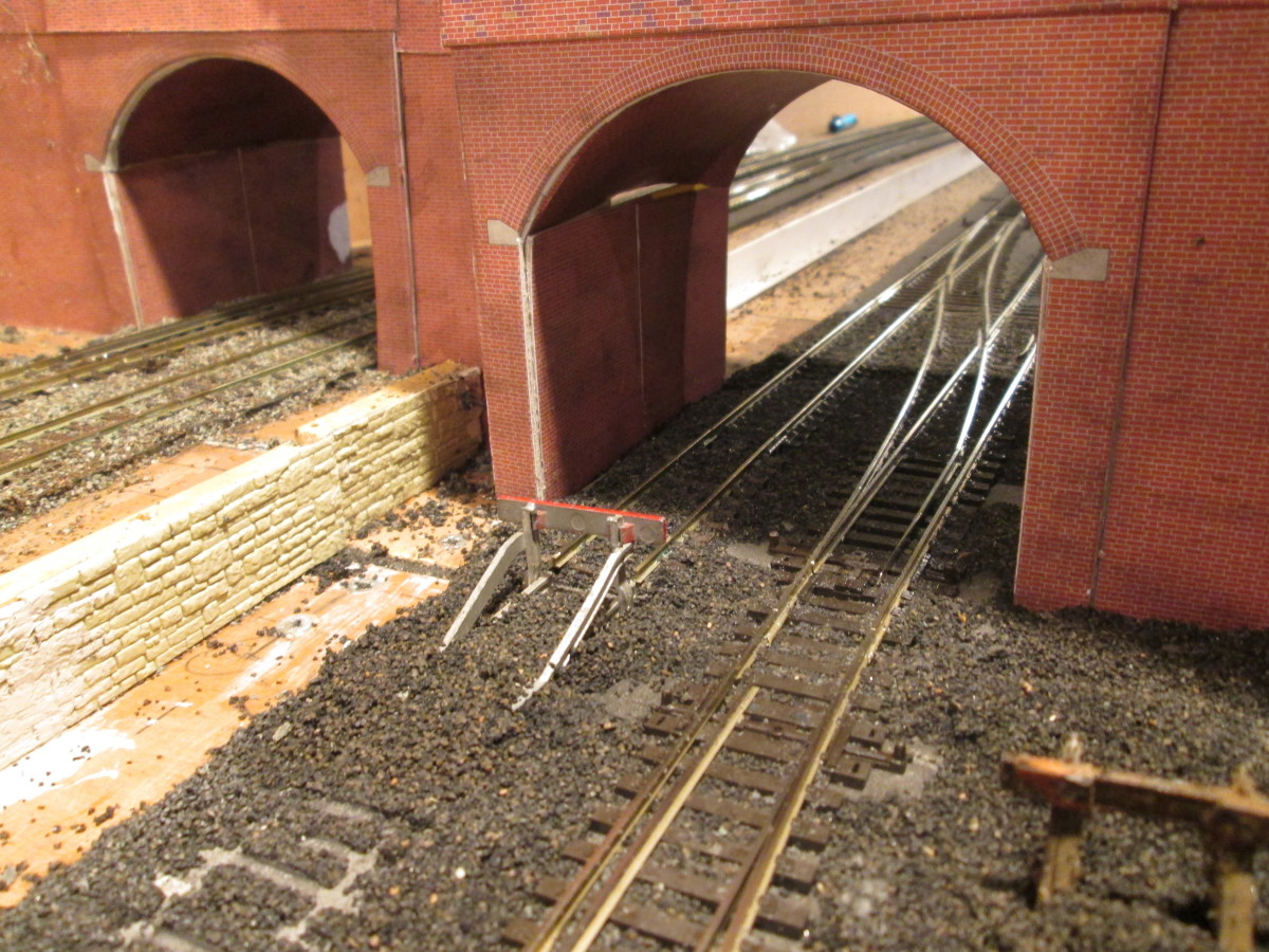Latest development on Unit 2 is the lifting of track on the Down side, a rail-built buffers stop replacing the approach to Unit 1 Fiddleyard