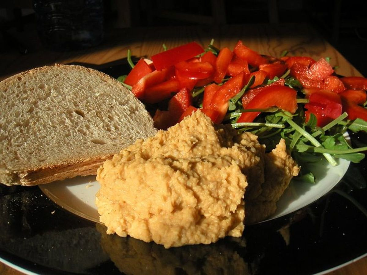 Another great thing about hummus for Beltane picnics and pot lucks is that it doesn't go bad as fast as mayo or meat.