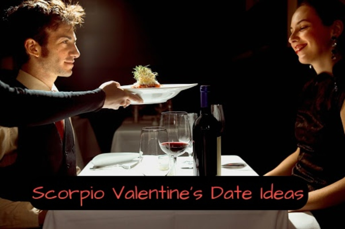 Scorpio wants passion. (1) Take them to a fancy restaurant with low lighting. (2) Wear red or black. (3) Stroll through a graveyard. (4) Cast love spells on each other. (5) Explore a castle, ruins, or a Gothic place.