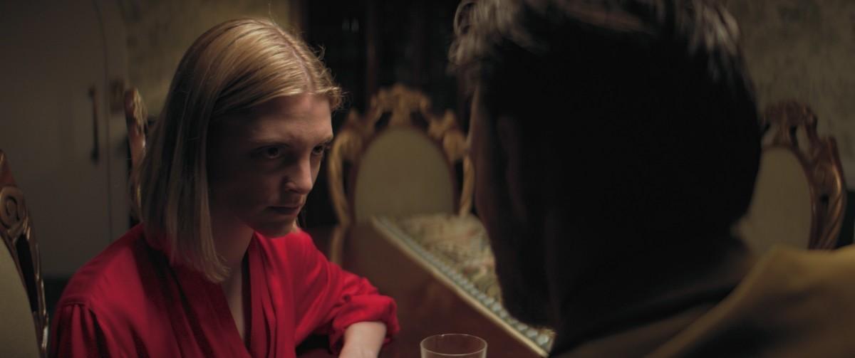"Lauren Beatty and Greg Bryk in, ""Bloodthirsty."""