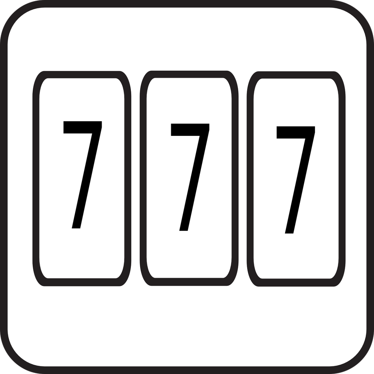 The numbers 777 symbolizing part of the album's title.
