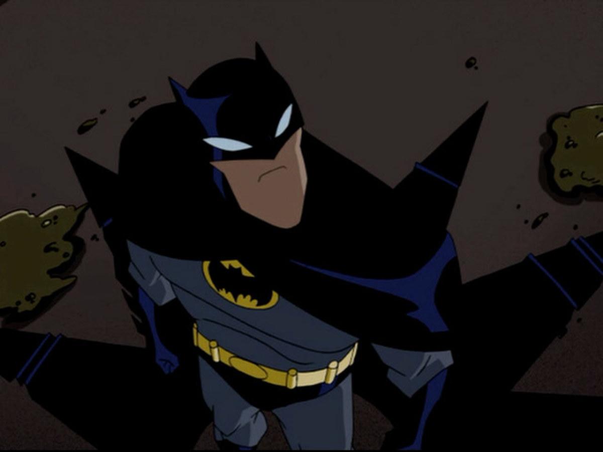 The Batman investigating the Penguin in Gotham City.