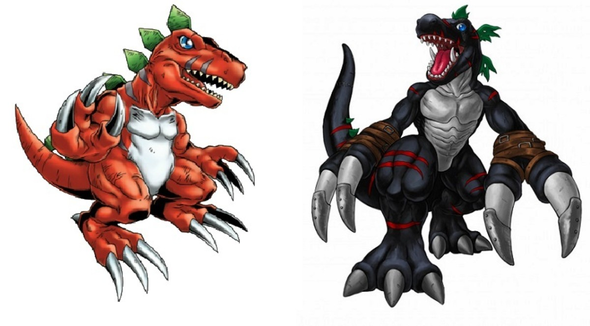 Tyrannomon and DarkTyrannomon