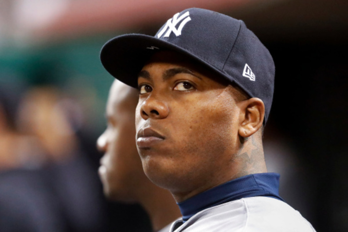 Chapman with the Yankees.