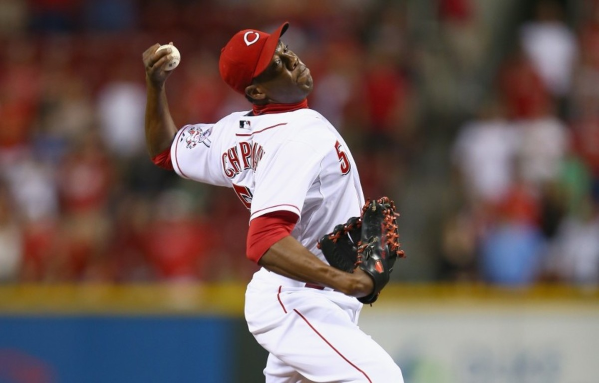 Chapman playing for the Reds.