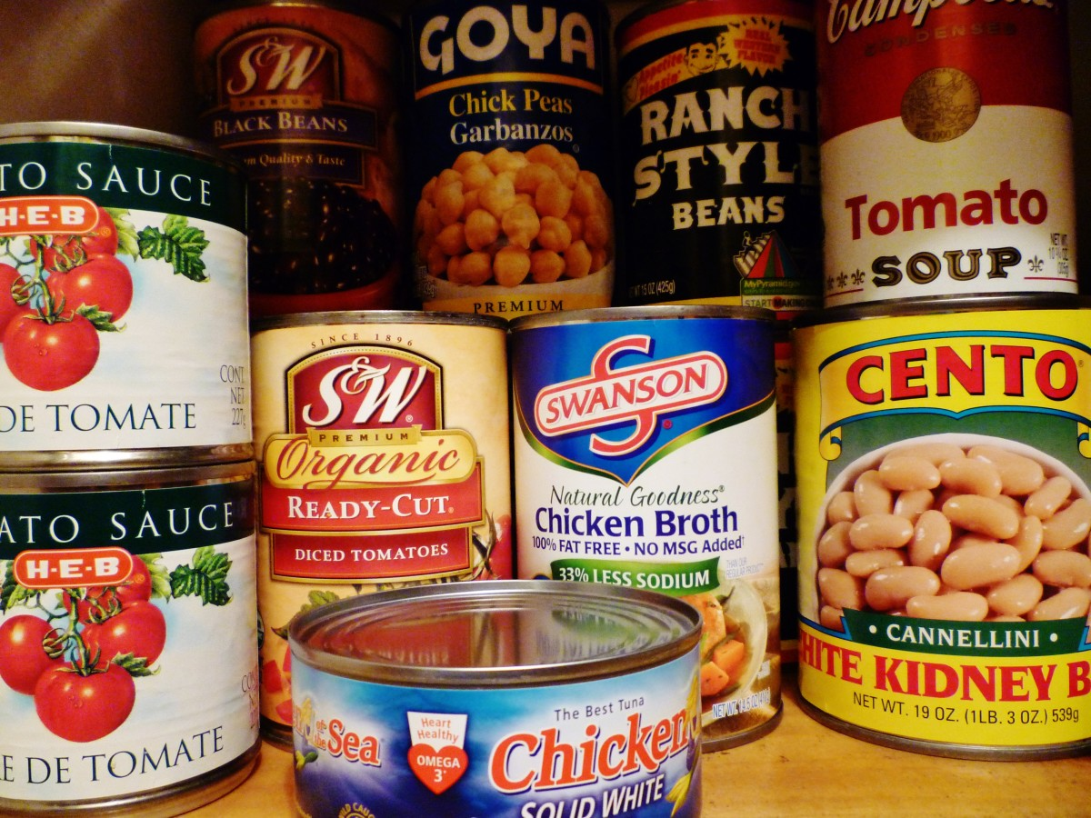 Food pantry items - Not everyone in this world of ours is fortunate enough to have stocked food pantries.  Sometimes they do not even know when they may be able to eat their next meal.