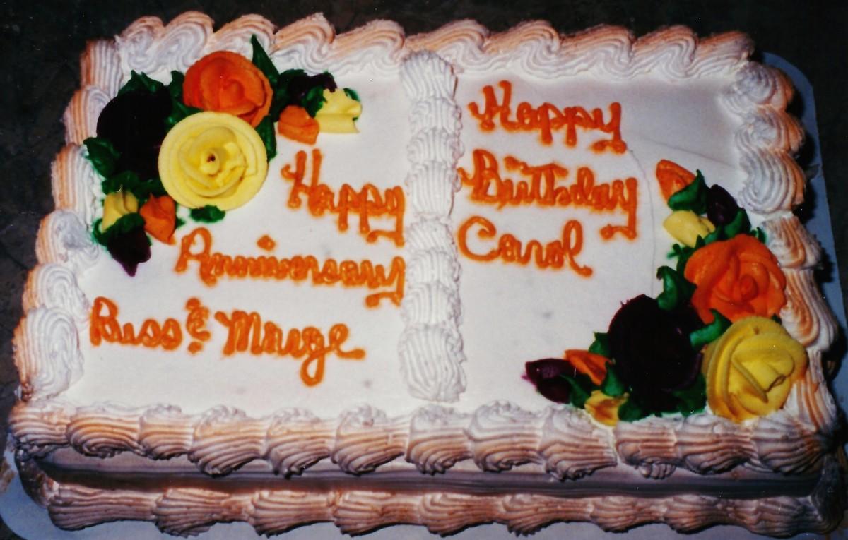 Shared anniversary / birthday cake