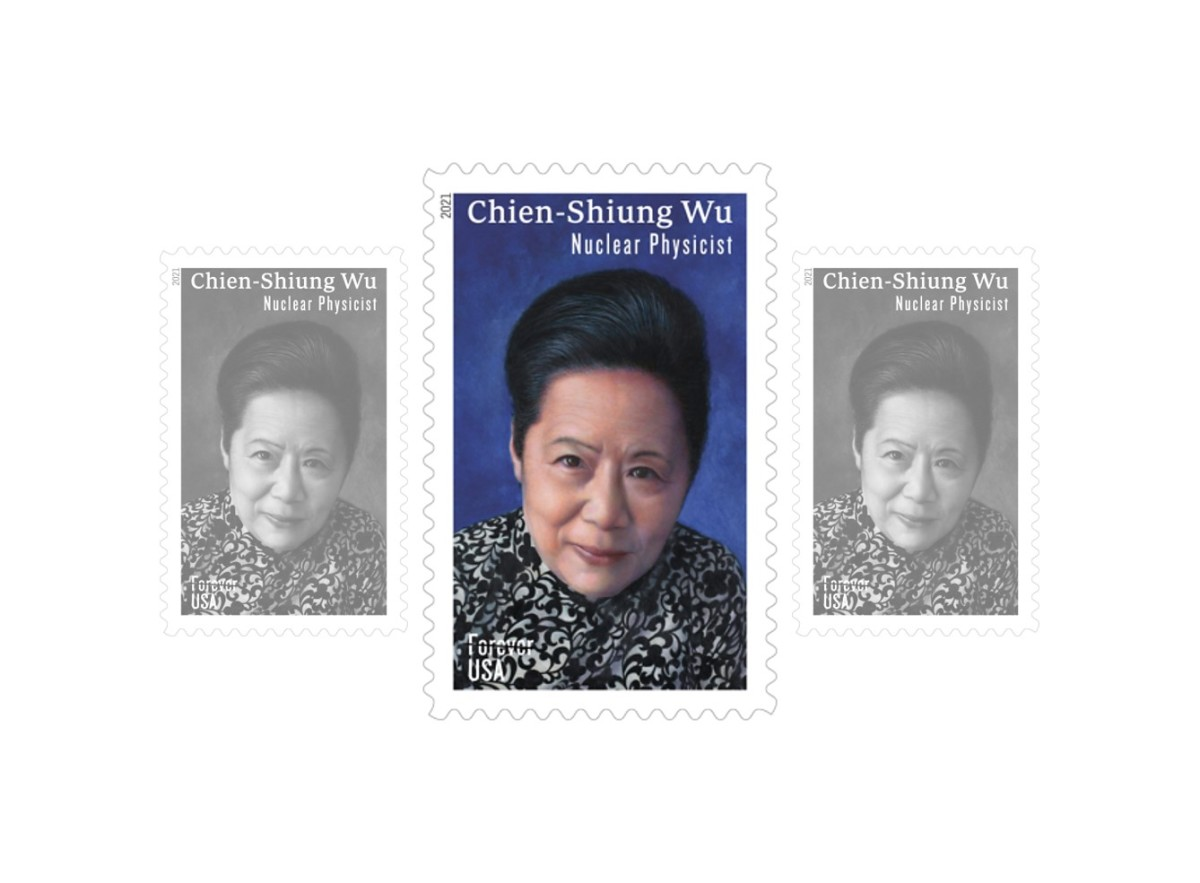 U.S. Forever Stamp of Chien-Shiung Wu issued February 11, 2021