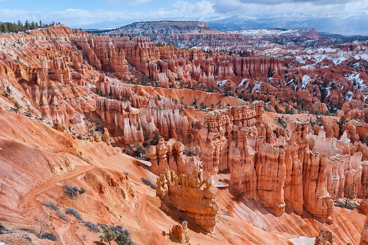 View of the Bryce Canyon
