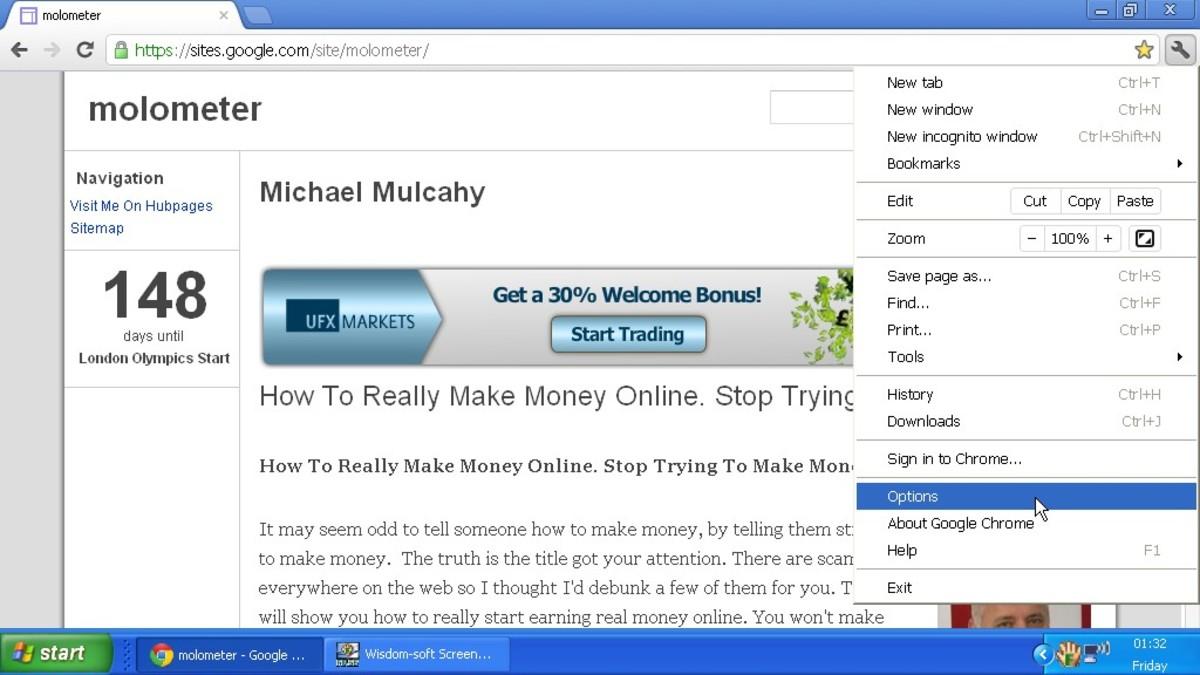 The fixed website. Note the little 'Green Padlock'  top left corner.