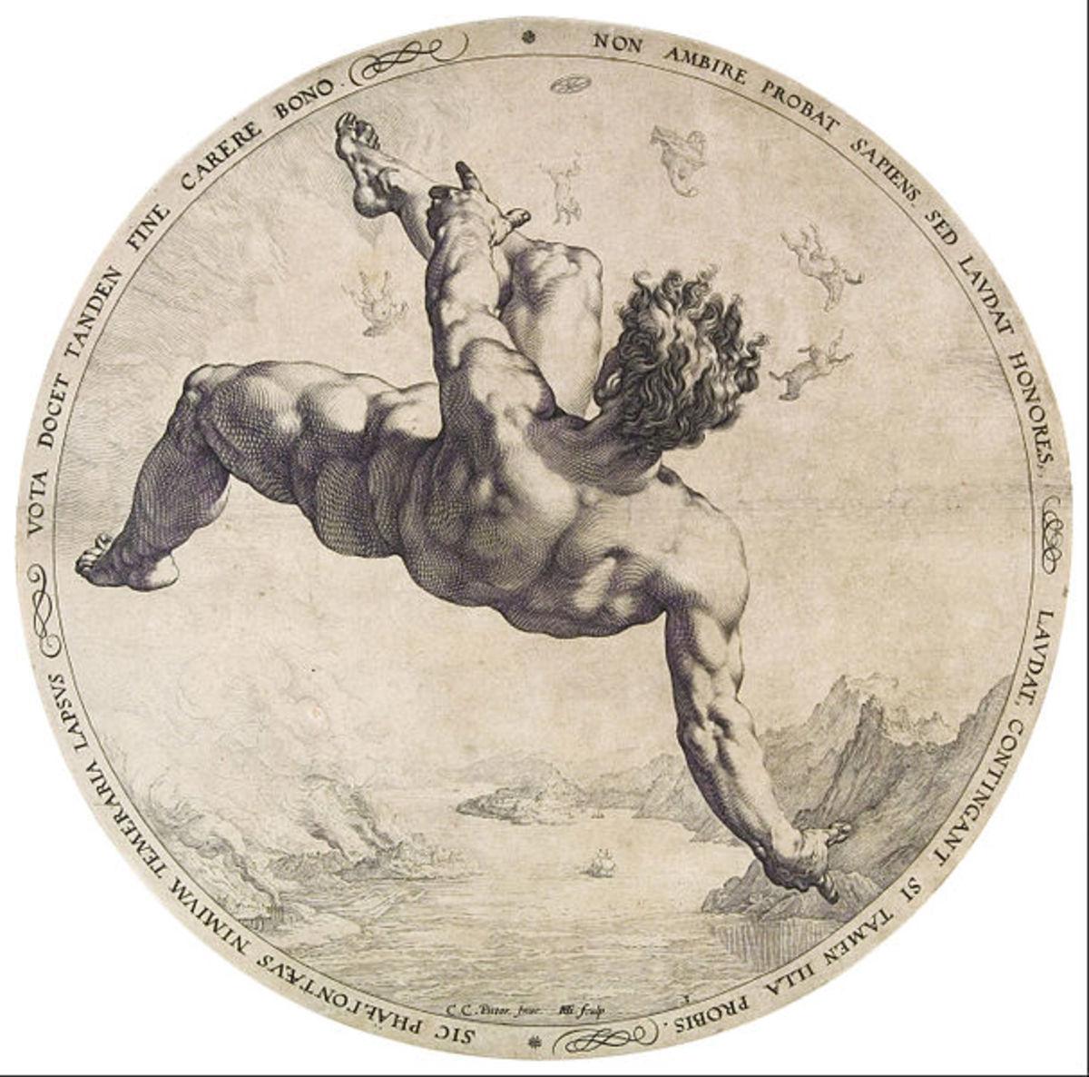 Phaethon - Hendrik Goltzius (1558–1617) - PD-art-100