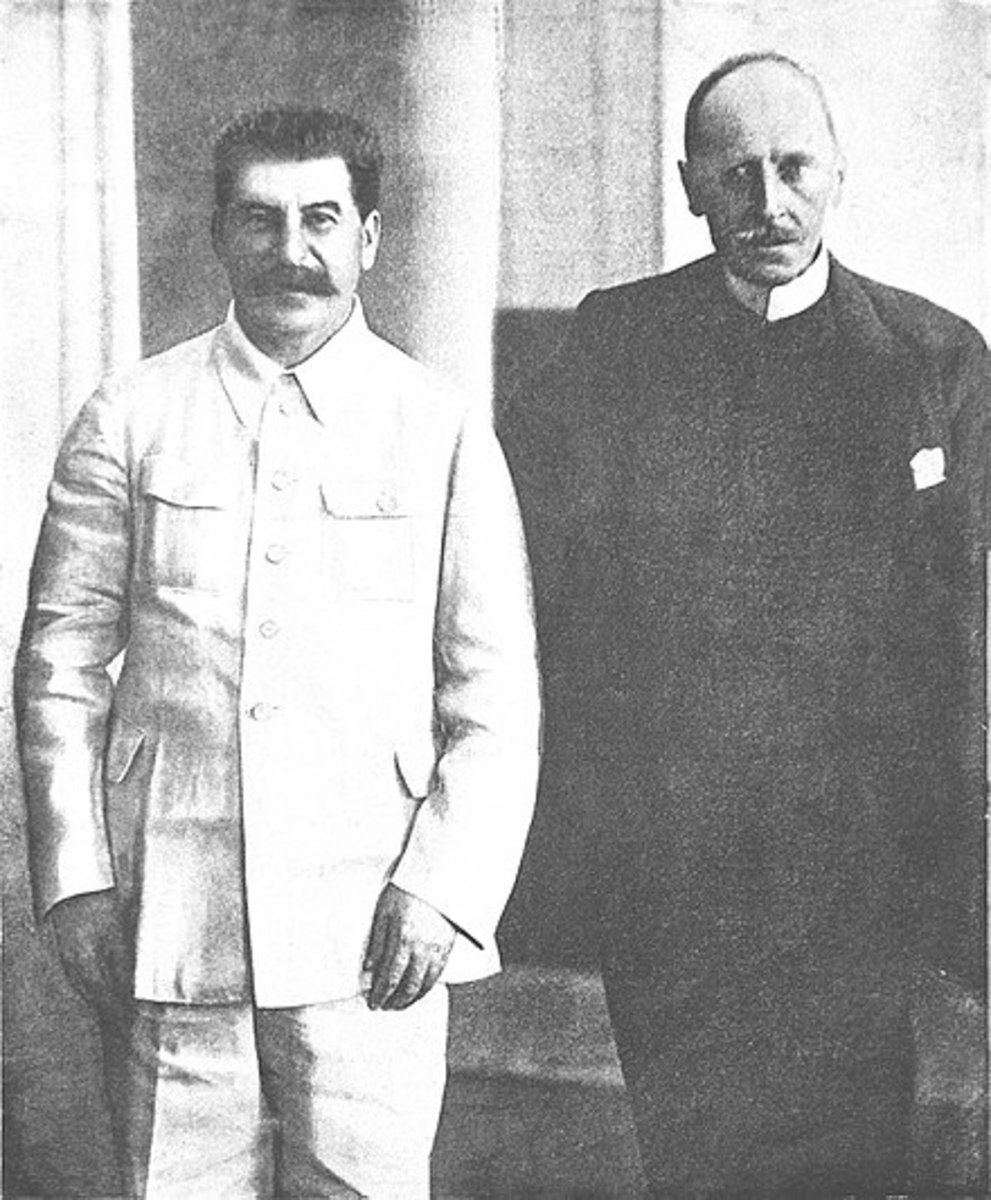 Rolland with Stalin