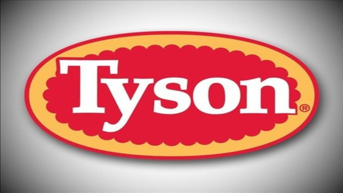 In 1935, Tyson Foods—the world's second largest processor of chicken, beef, and pork—was founded by John W. Tyson. Located in Springdale, Arkansas, Tyson also operates a number of major food brands, including Jimmy Dean and Hillshire Farms.